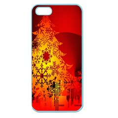 Red Silhouette Star Apple Seamless Iphone 5 Case (color)