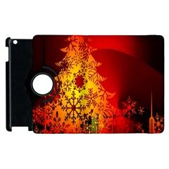 Red Silhouette Star Apple Ipad 2 Flip 360 Case