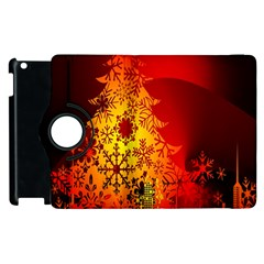Red Silhouette Star Apple Ipad 3/4 Flip 360 Case