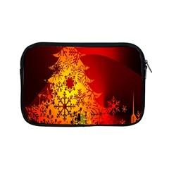 Red Silhouette Star Apple Ipad Mini Zipper Cases by Nexatart