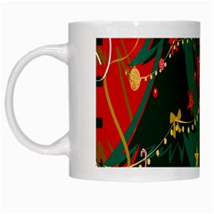Santa Clause Xmas White Mugs