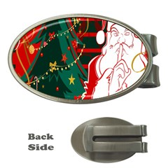 Santa Clause Xmas Money Clips (oval)