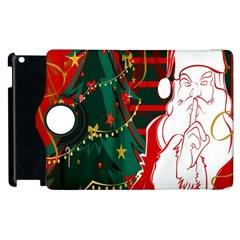 Santa Clause Xmas Apple Ipad 3/4 Flip 360 Case