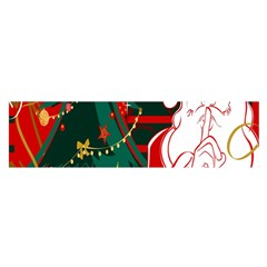 Santa Clause Xmas Satin Scarf (oblong)