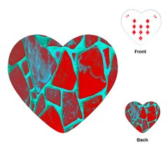 Red Marble Background Playing Cards (heart)