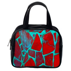 Red Marble Background Classic Handbags (one Side)