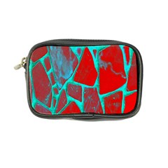 Red Marble Background Coin Purse