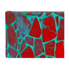 Red Marble Background Cosmetic Bag (xl)