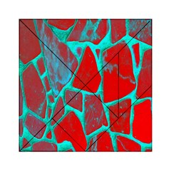 Red Marble Background Acrylic Tangram Puzzle (6  x 6 ) by Nexatart