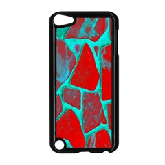 Red Marble Background Apple Ipod Touch 5 Case (black)