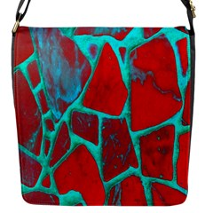 Red Marble Background Flap Messenger Bag (s)