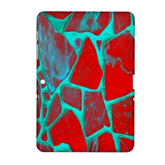 Red Marble Background Samsung Galaxy Tab 2 (10 1 ) P5100 Hardshell Case