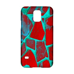 Red Marble Background Samsung Galaxy S5 Hardshell Case