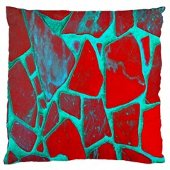 Red Marble Background Large Flano Cushion Case (one Side) by Nexatart