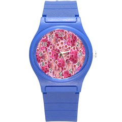Roses Flowers Rose Blooms Nature Round Plastic Sport Watch (s)