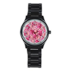 Roses Flowers Rose Blooms Nature Stainless Steel Round Watch