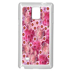 Roses Flowers Rose Blooms Nature Samsung Galaxy Note 4 Case (white) by Nexatart