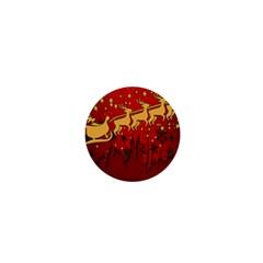 Santa Christmas Claus Winter 1  Mini Buttons by Nexatart