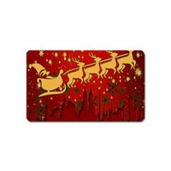 Santa Christmas Claus Winter Magnet (name Card) by Nexatart