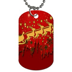 Santa Christmas Claus Winter Dog Tag (one Side)