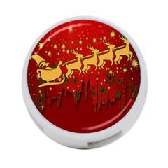 Santa Christmas Claus Winter 4 Port Usb Hub (one Side)