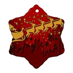 Santa Christmas Claus Winter Ornament (snowflake) by Nexatart