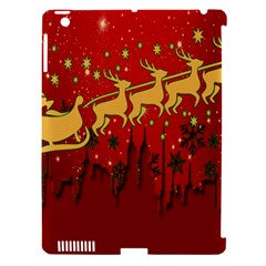 Santa Christmas Claus Winter Apple Ipad 3/4 Hardshell Case (compatible With Smart Cover) by Nexatart