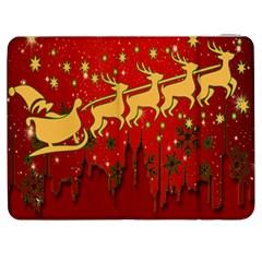 Santa Christmas Claus Winter Samsung Galaxy Tab 7  P1000 Flip Case by Nexatart