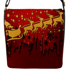 Santa Christmas Claus Winter Flap Messenger Bag (s)
