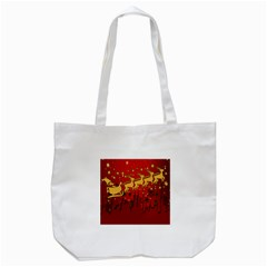 Santa Christmas Claus Winter Tote Bag (white)