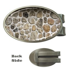 Roof Tile Damme Wall Stone Money Clips (oval)  by Nexatart