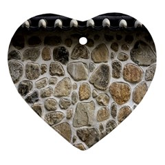 Roof Tile Damme Wall Stone Heart Ornament (two Sides) by Nexatart