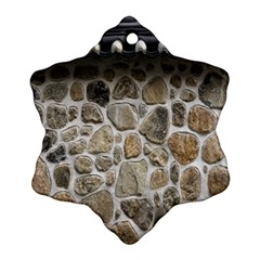 Roof Tile Damme Wall Stone Snowflake Ornament (two Sides)