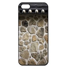 Roof Tile Damme Wall Stone Apple Iphone 5 Seamless Case (black) by Nexatart