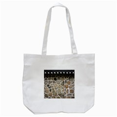 Roof Tile Damme Wall Stone Tote Bag (white)