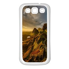 Scotland Landscape Scenic Mountains Samsung Galaxy S3 Back Case (white) by Nexatart