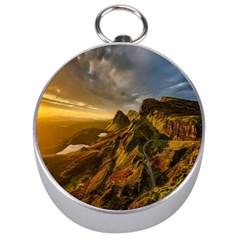 Scotland Landscape Scenic Mountains Silver Compasses by Nexatart
