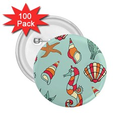 Seahorse Seashell Starfish Shell 2 25  Buttons (100 Pack)