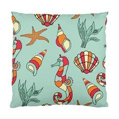 Seahorse Seashell Starfish Shell Standard Cushion Case (one Side)
