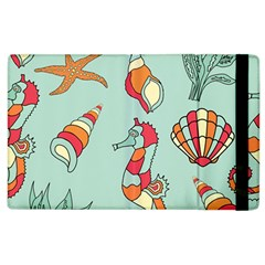 Seahorse Seashell Starfish Shell Apple Ipad 3/4 Flip Case