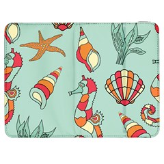 Seahorse Seashell Starfish Shell Samsung Galaxy Tab 7  P1000 Flip Case by Nexatart