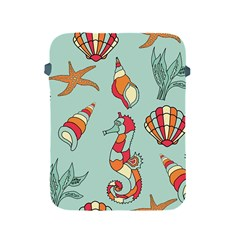 Seahorse Seashell Starfish Shell Apple Ipad 2/3/4 Protective Soft Cases by Nexatart