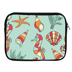 Seahorse Seashell Starfish Shell Apple Ipad 2/3/4 Zipper Cases by Nexatart