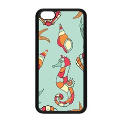 Seahorse Seashell Starfish Shell Apple Iphone 5c Seamless Case (black) by Nexatart