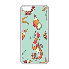 Seahorse Seashell Starfish Shell Apple Iphone 5c Seamless Case (white) by Nexatart