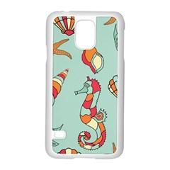 Seahorse Seashell Starfish Shell Samsung Galaxy S5 Case (white) by Nexatart