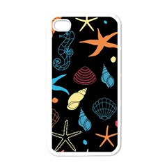 Seahorse Starfish Seashell Shell Apple Iphone 4 Case (white) by Nexatart