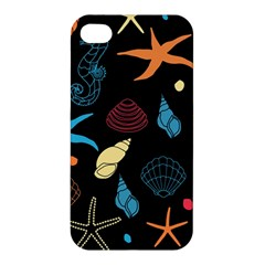 Seahorse Starfish Seashell Shell Apple Iphone 4/4s Hardshell Case by Nexatart