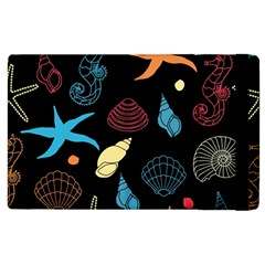 Seahorse Starfish Seashell Shell Apple Ipad 2 Flip Case by Nexatart