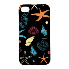 Seahorse Starfish Seashell Shell Apple Iphone 4/4s Hardshell Case With Stand by Nexatart